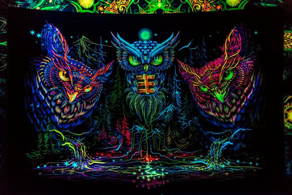 Owls Horizontal UV Backdrop