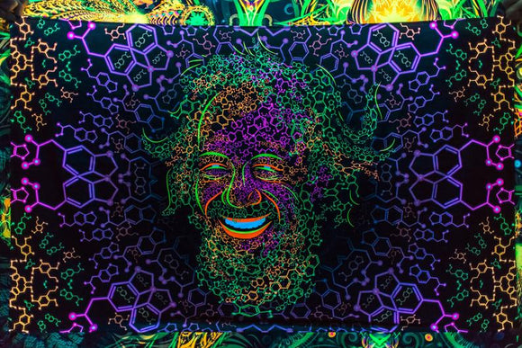 Alexander Shulgin UV Backdrop