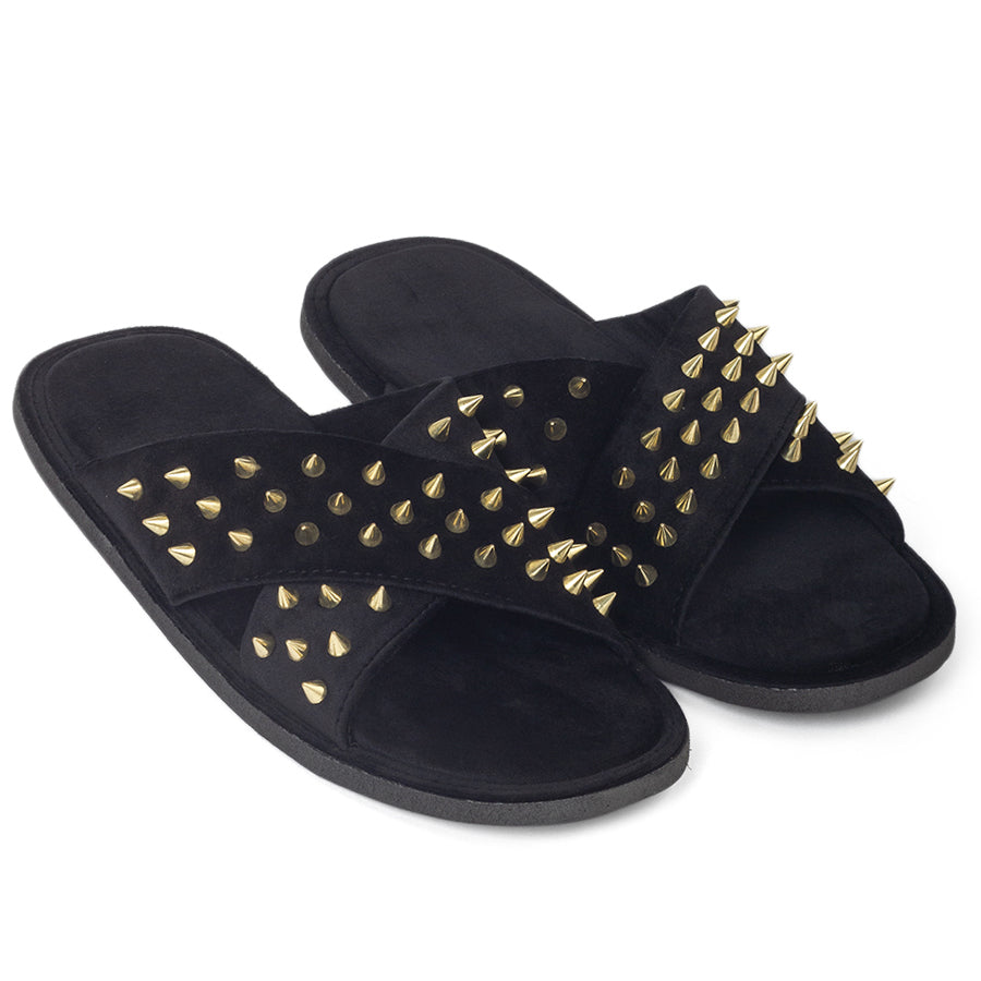 New Roman Golden Spike'd Velvet Domani Slippers© (Limited Edition)