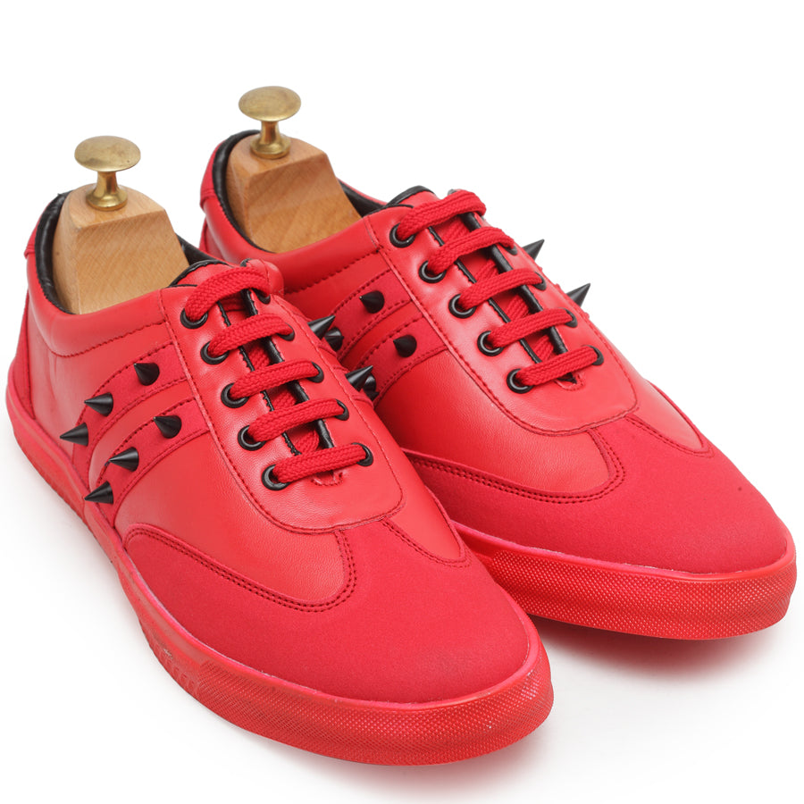 Spike'd Sneakers (Red)