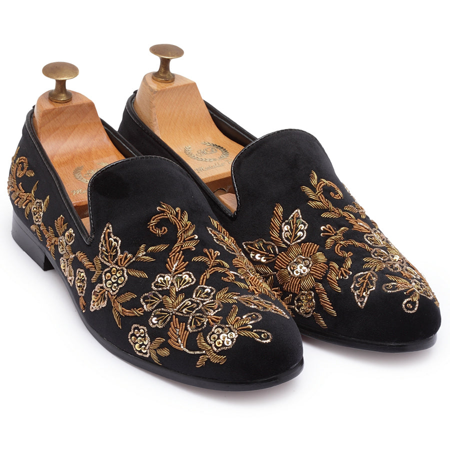 Golden Garden Slipons