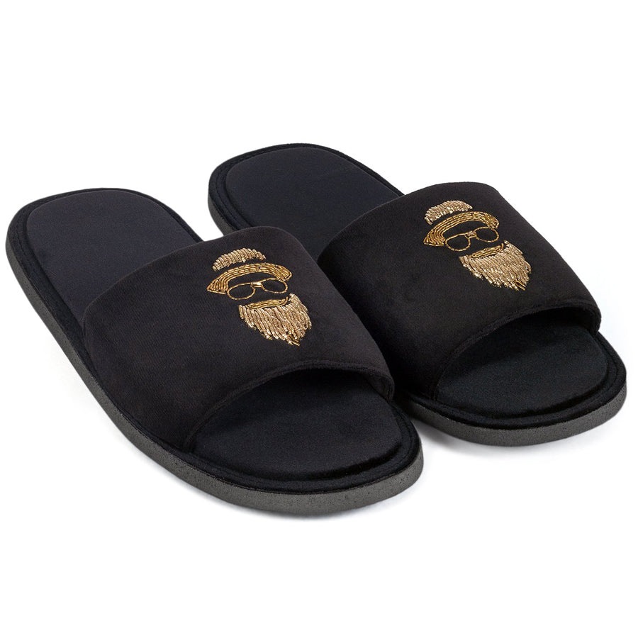 Gatsby Beard Slippers (Black)