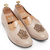 Royal Crest© Leather Juttis (Cream)
