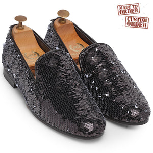 MADE TO ORDER B&W Reversible Sequin Slipons