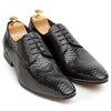 Python Snake Cut Leather Oxfords (Limited Edition Black)