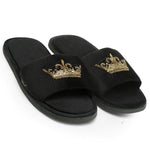 Roman Crown Slippers (Black)
