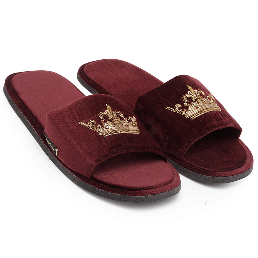 Roman Crown Slippers (Wine)