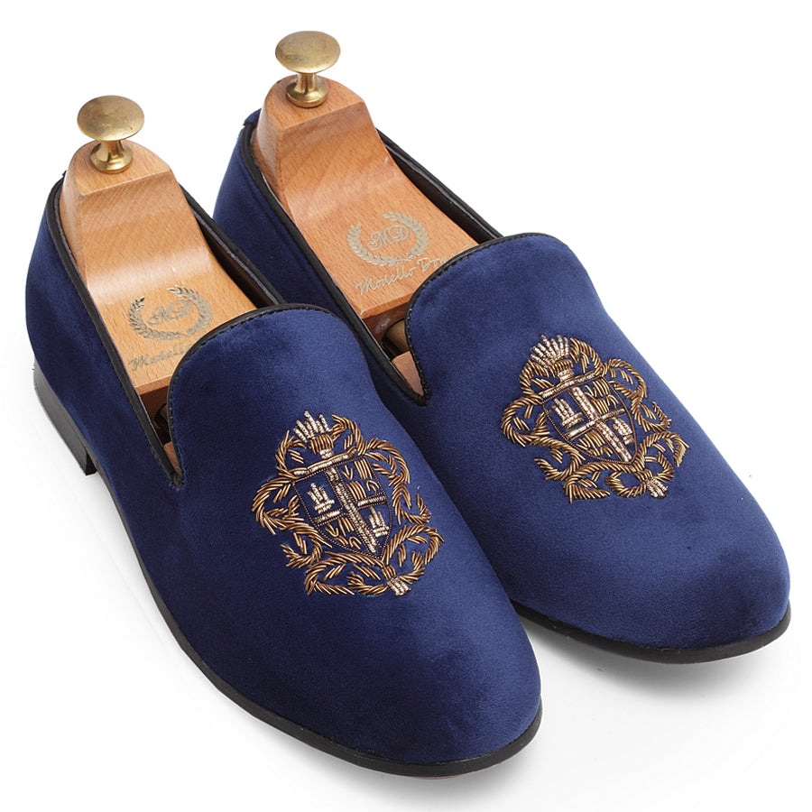 The Royal Crest© Slipons (Navy)
