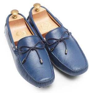 Gommino Leather Loafers (Dark Blue)