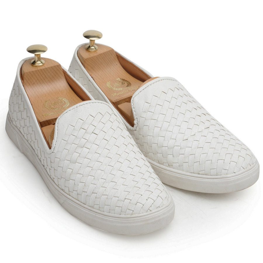 Woven Sneakers (White)