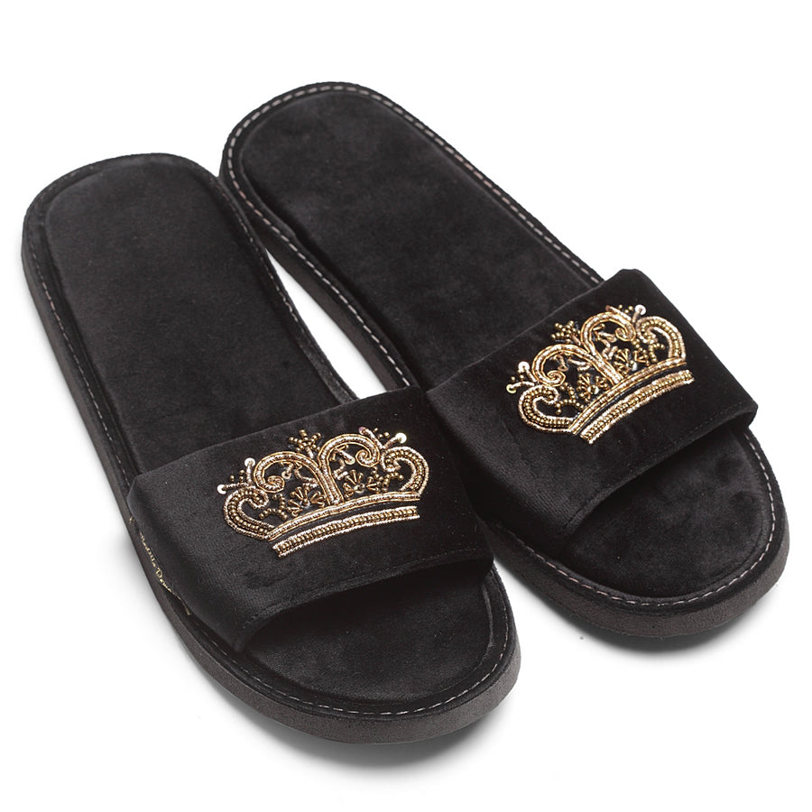 Tiara Slippers (Black)