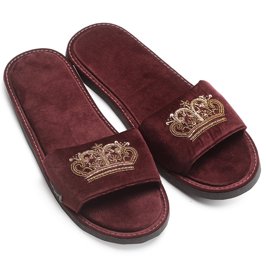 Tiara Domani Slippers© (Wine)