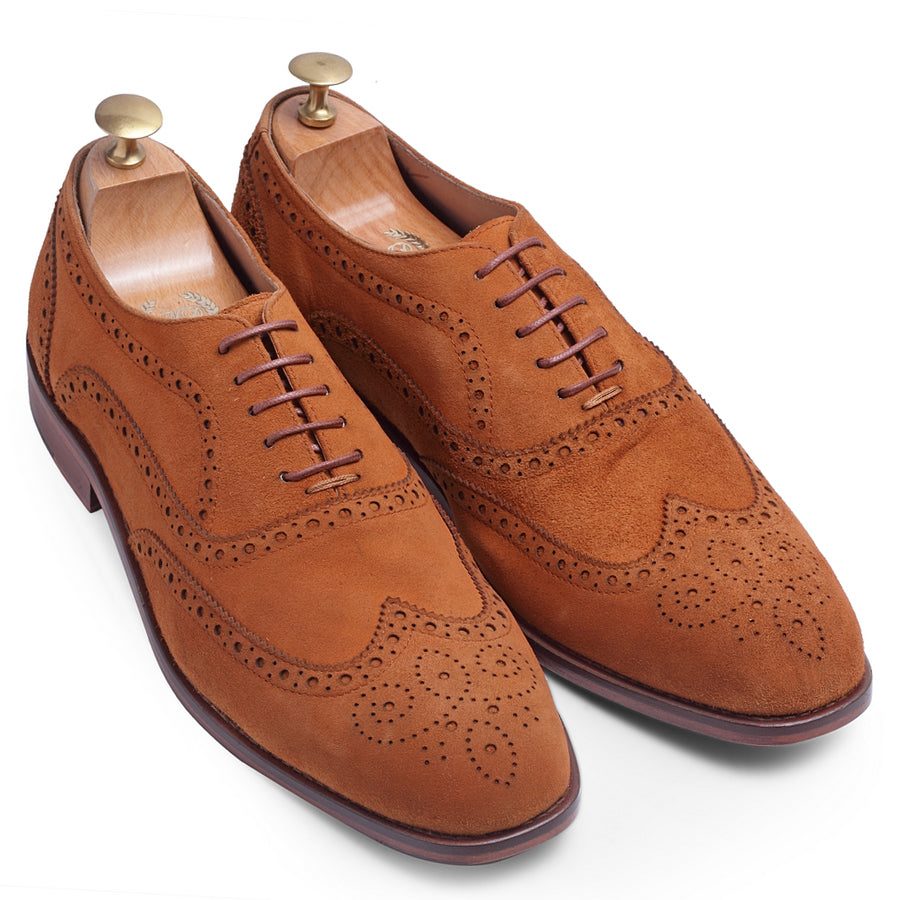 Italian Calf Suede Brogues (Tan Limited Edition)