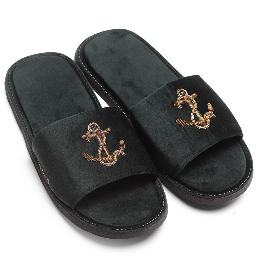 Anchor Domani Slippers© (Bottle Green)