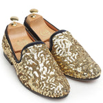 MADE TO ORDER Glamorous Sequin Slipons (Golden)
