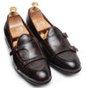Low Cut Dual Monkstraps (Tan-Black Burnish)
