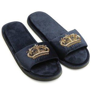 Tiara Slippers (Navy)