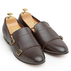 Leather Glamorous Monks (Brown)