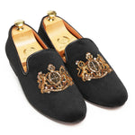 The Royal Seal© Slipons (Black)