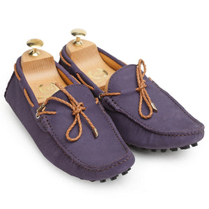 Gommino Leather Loafers (Purple)
