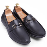 Horseshoe Buckle Slipons (Black)