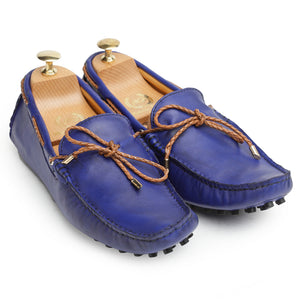 Gommino Leather Loafers (Blueberry)
