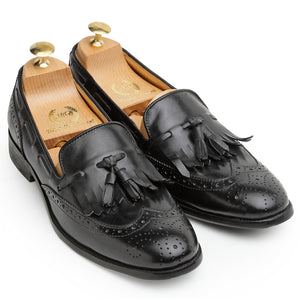 Leather Brogue'd Frills Slipons (Limited Edition)