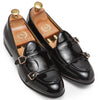 Low Cut Dual Monkstraps (Patent Black)