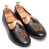 Royal Crest© Leather Juttis (Black)