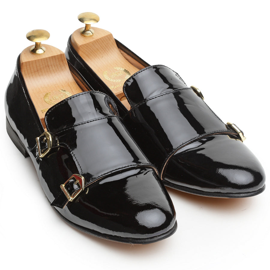 Leather Glamorous Monks (Patent Black)