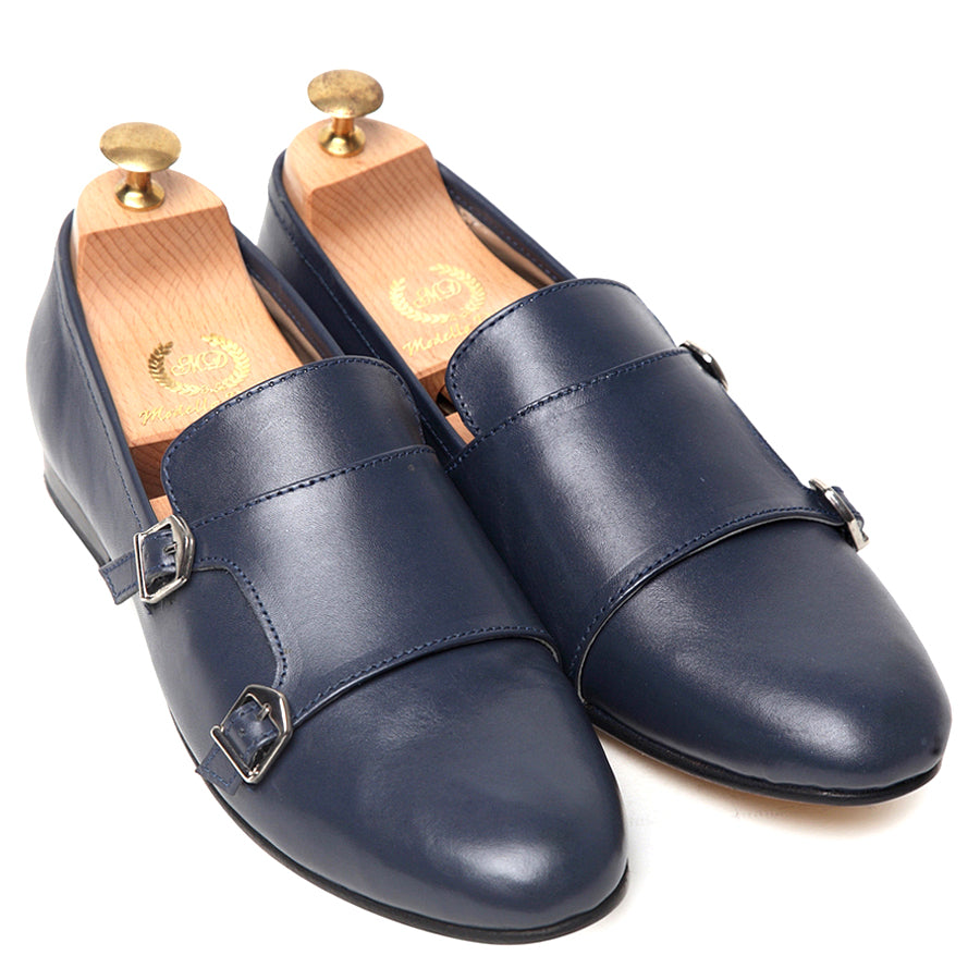 Glamorous Gold Sole Monks (Limited Edition Navy)