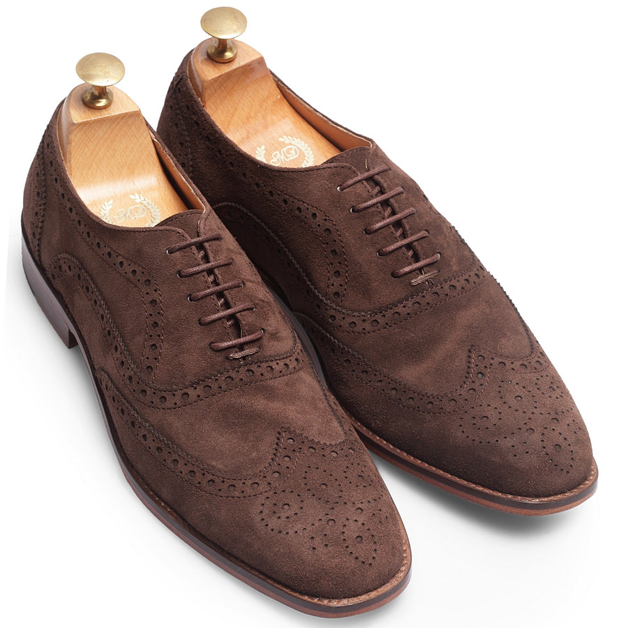 Italian Calf Suede Brogues (Brown Limited Edition)