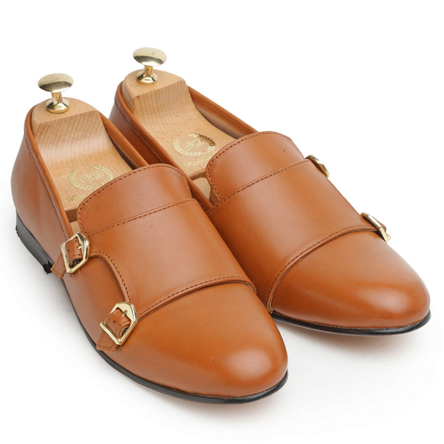Leather Glamorous Monks (LIMITED EDITION TAN)