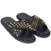 New Roman Golden Spike'd Leather Domani Slippers© (Limited Edition)