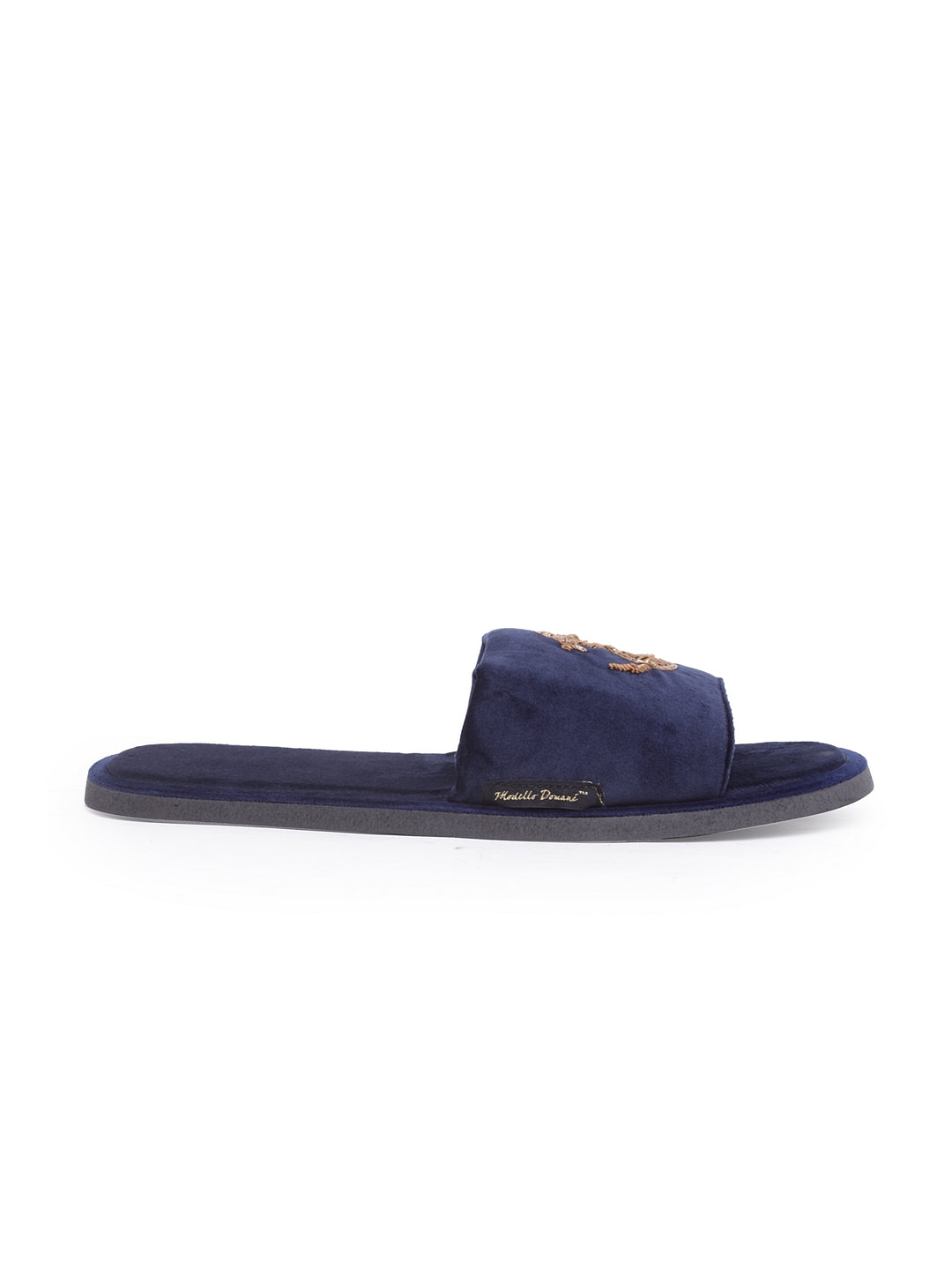 Anchor Domani Slippers© (Navy Gold)