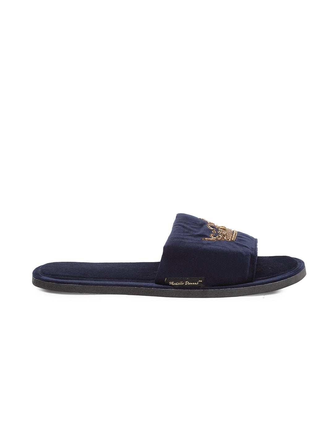 Roman Crown Domani Slippers© (Navy)
