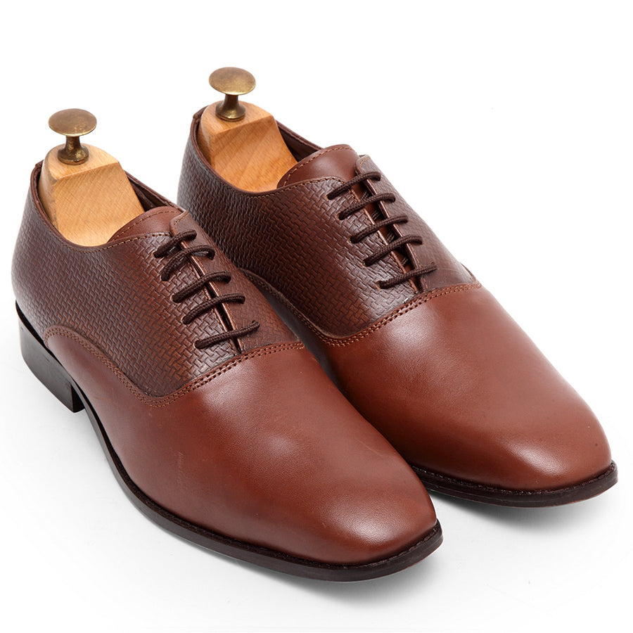 Textured Derby (Brown)