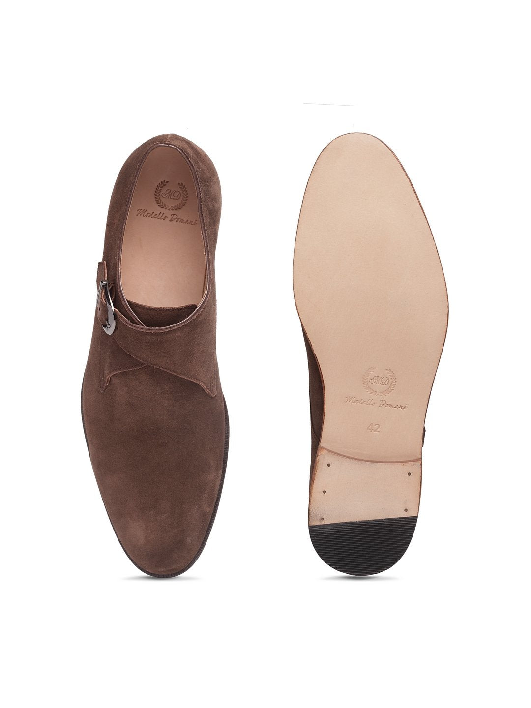 Italian Calf Suede Single Monkstraps