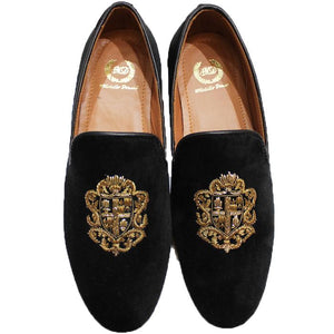 The Royal Crest© Slipons (Black)