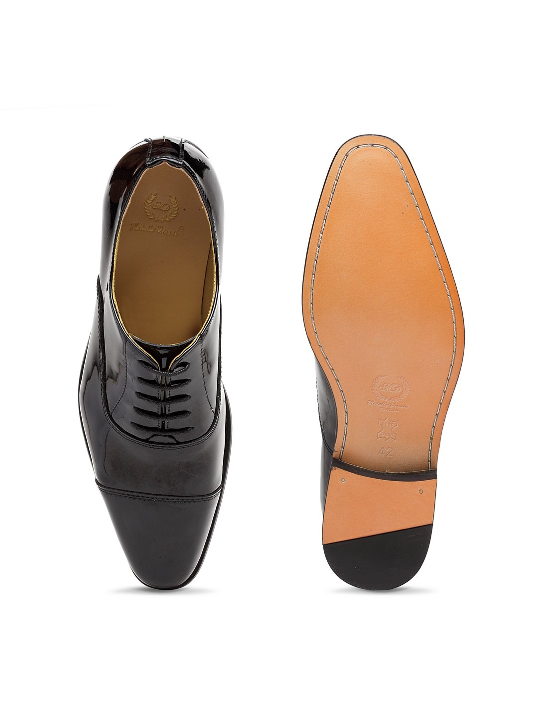 Italia Leather Oxfords (Patent Black)