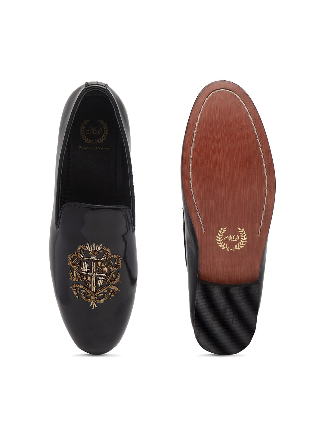 The Royal Crest© Slipons (Patent Black)