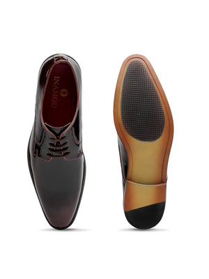 Derby Lace Ups (Patent Brown)