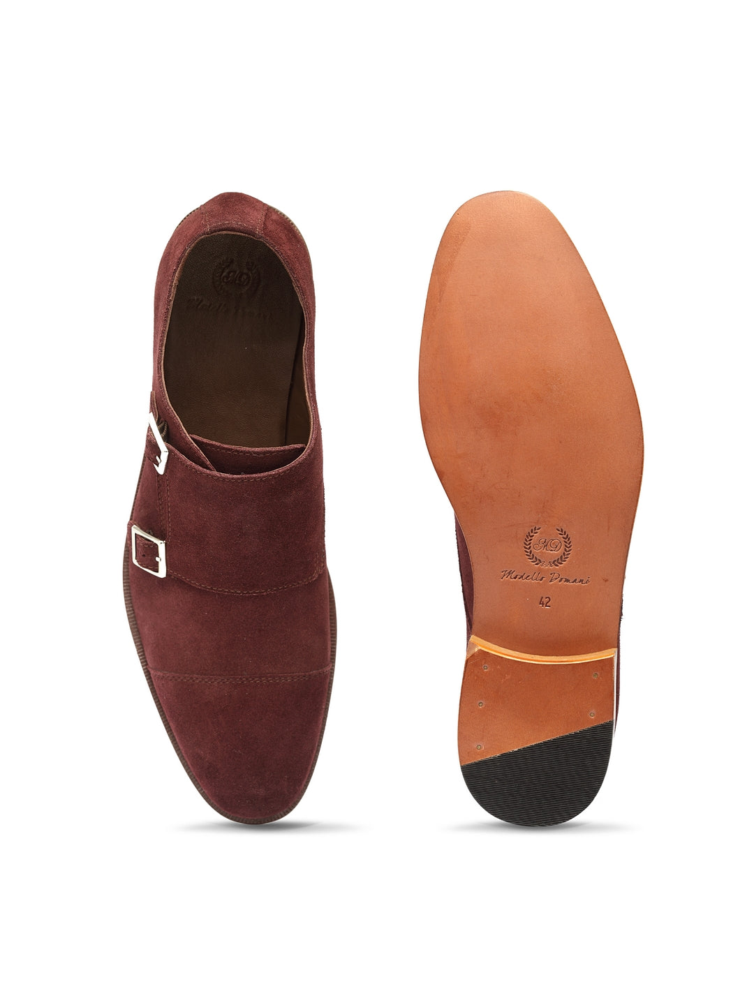 Spanish Cut Suede Dual Monkstraps