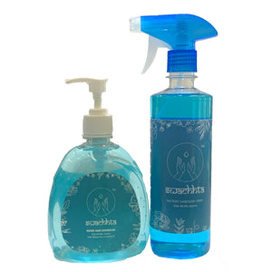 Swachhta Sanitizer Combo Pack (Set Of 2x500ml - Pump + Spray)