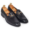 Italian Cut Horsebit Buckle Slipons (Black)