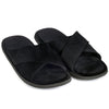 New Roman Velvet Slippers (Black)
