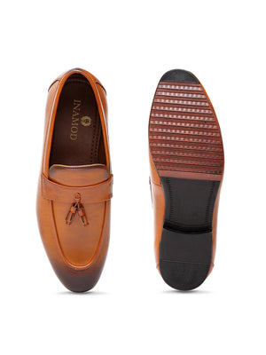 Tassel Slipons (Tan)