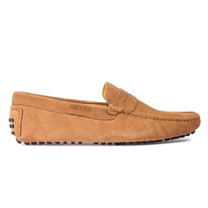 Gommino Suede Penny Loafers (Beige)