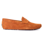 Gommino Suede Penny Loafers (Tan)