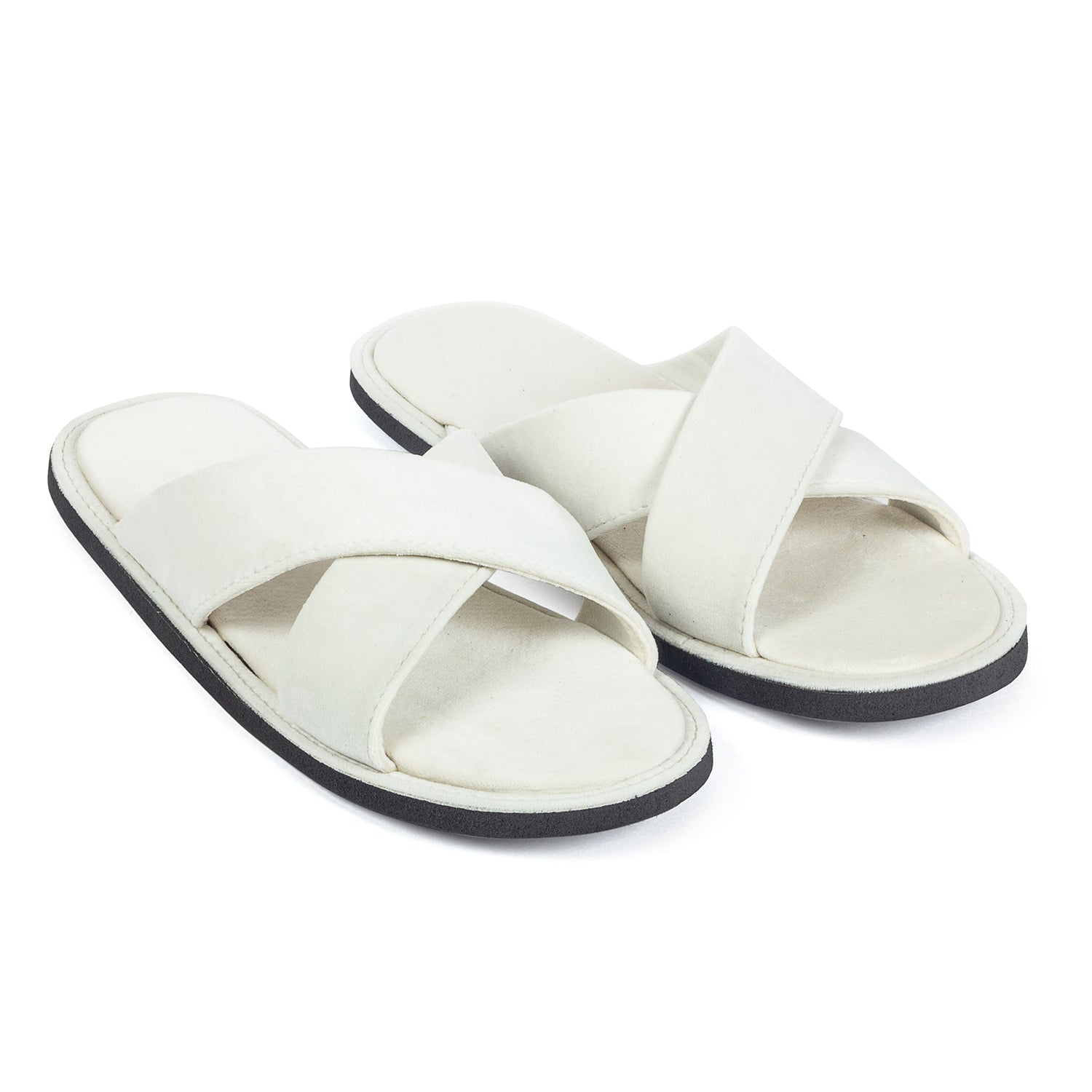 Kids New Roman Domani Slippers© (White)
